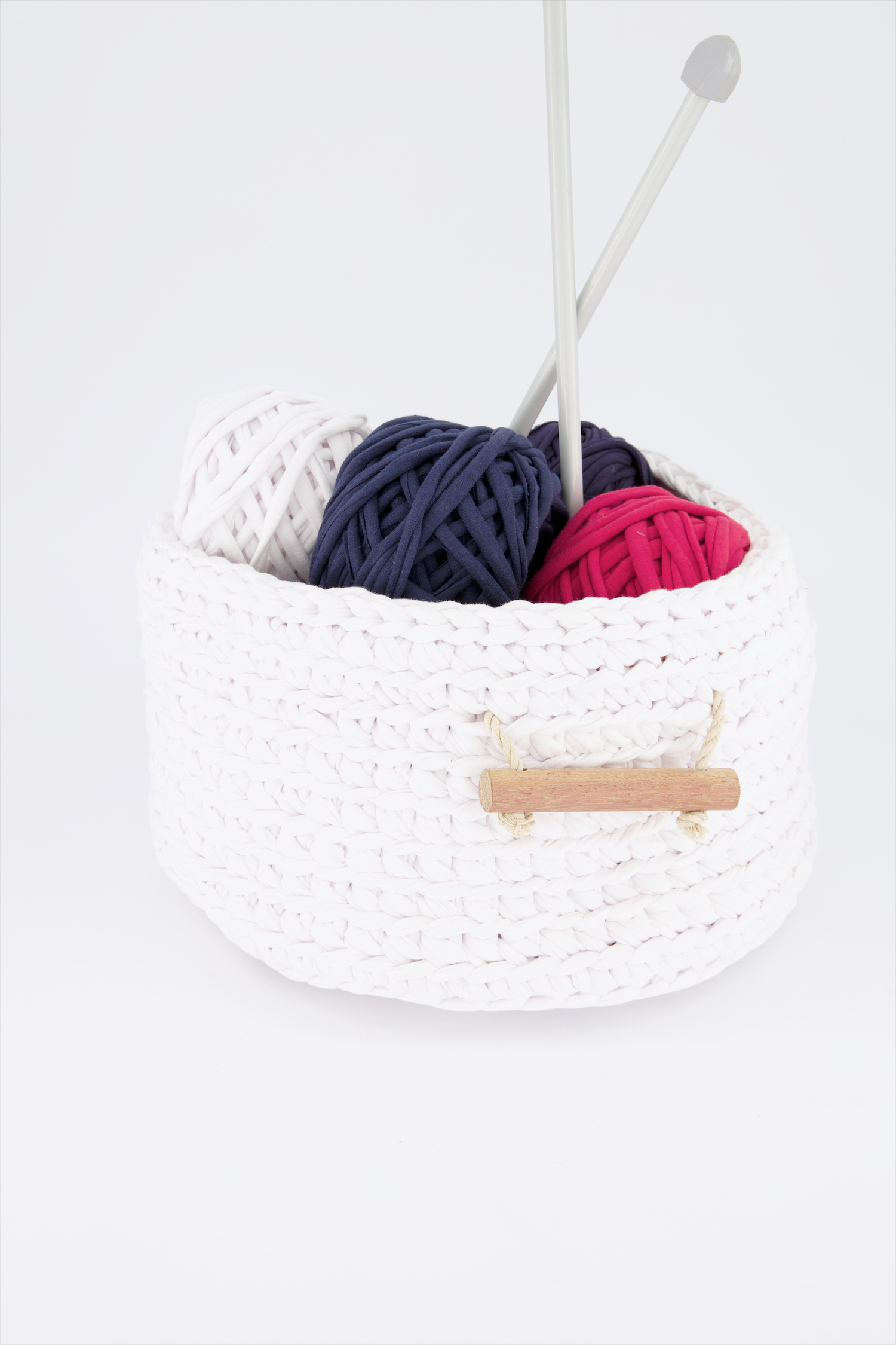 Basket with Wooden handle